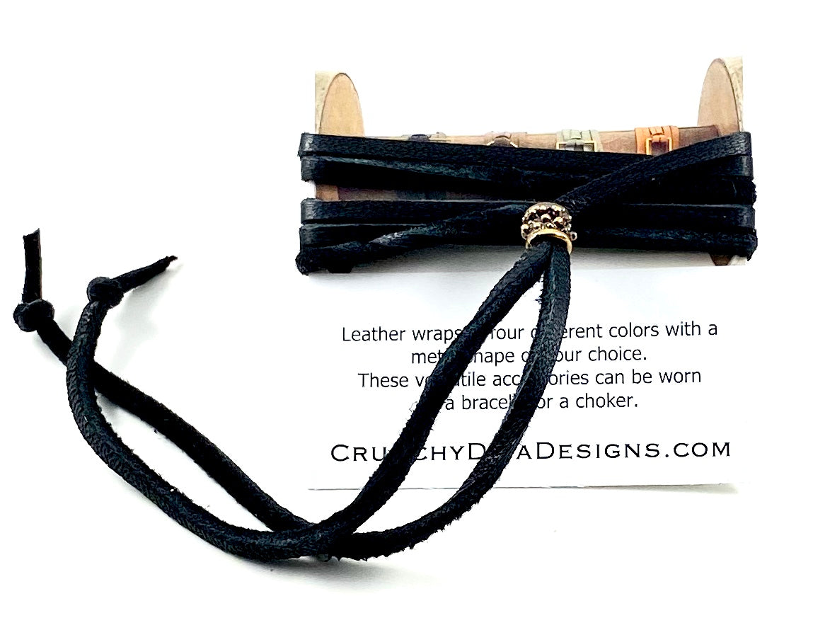 Black Leather Wrap - 3mm