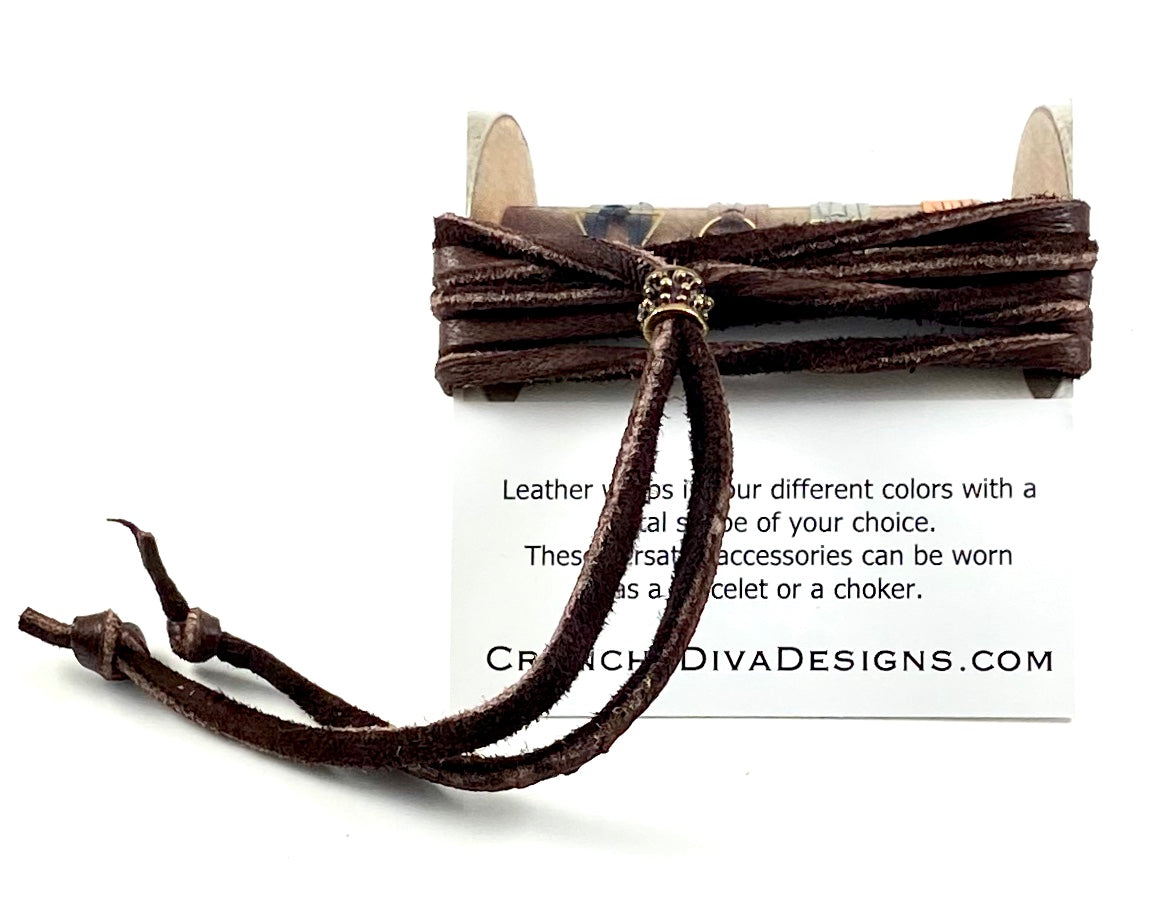 Brown Leather Wrap - 3mm
