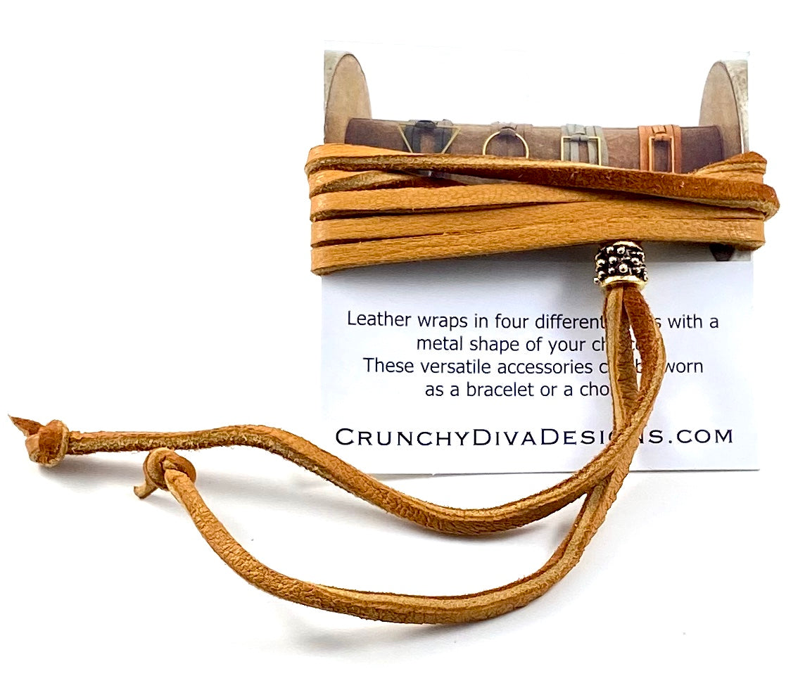 Tan Leather Wrap - 3mm