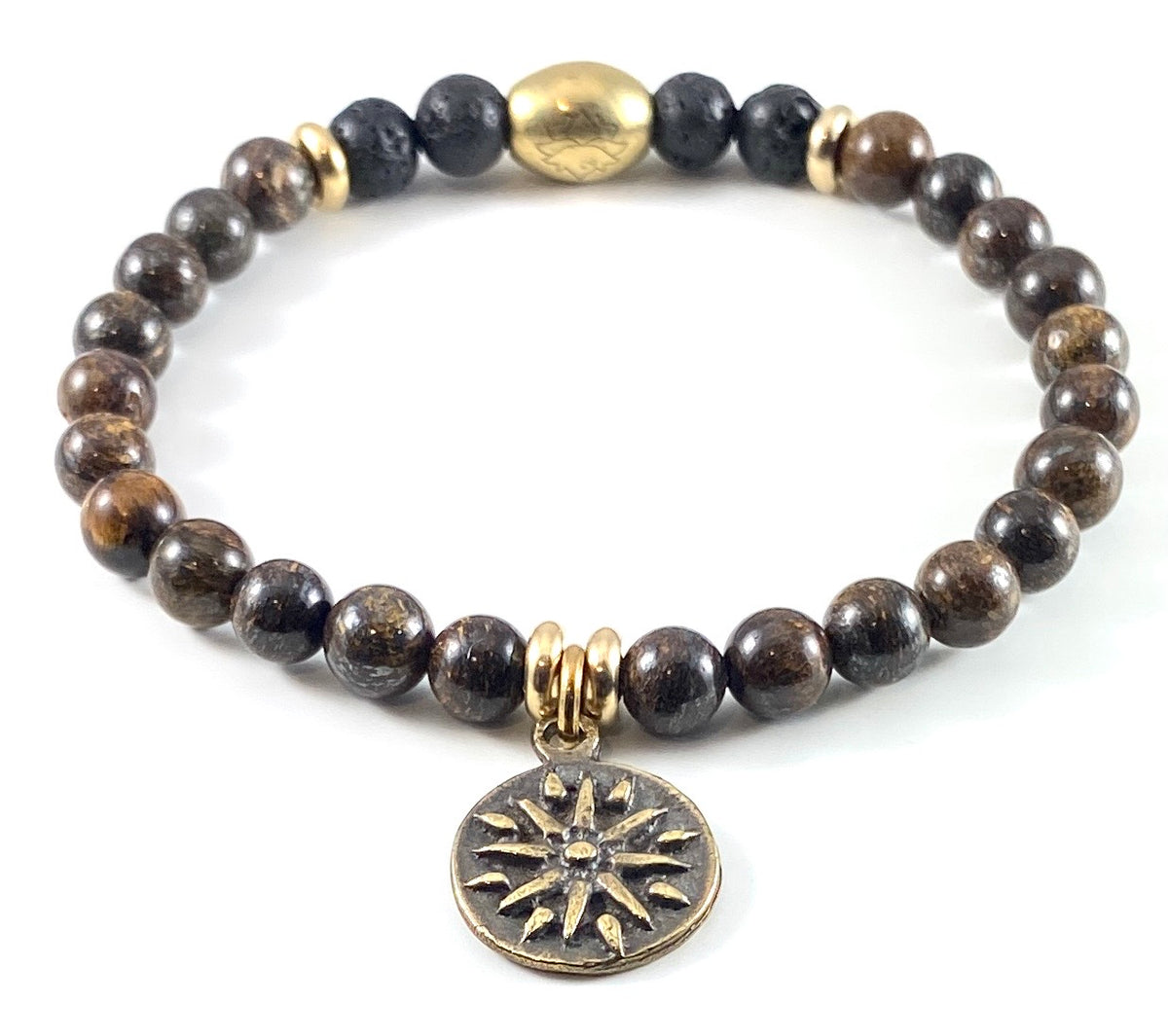Sun Charm Diffuser Stretch Bracelet - 6mm