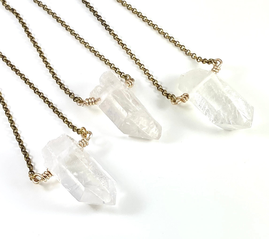 Chunky Clear Quartz Necklace