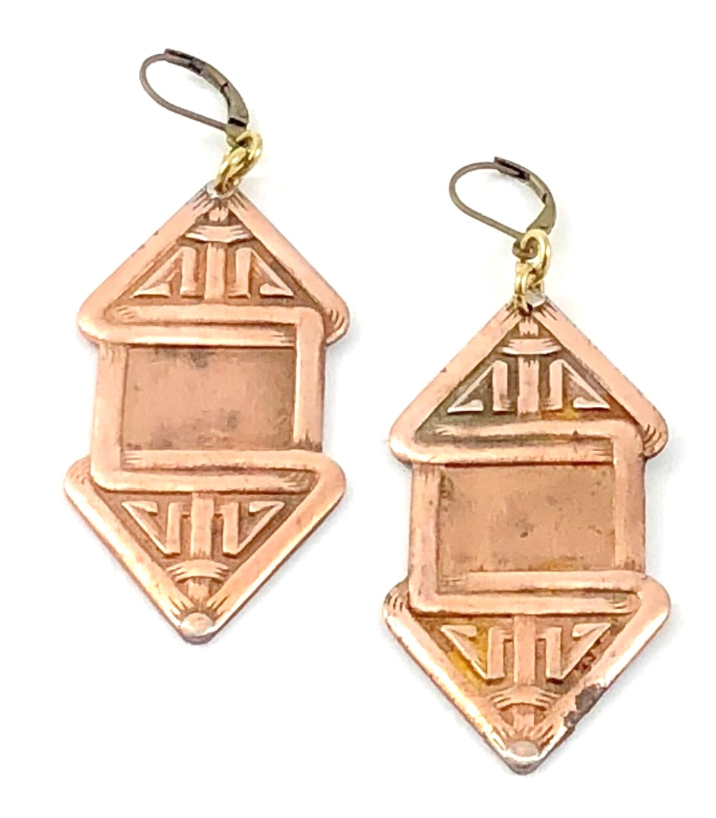 Vintage Stamp Earrings