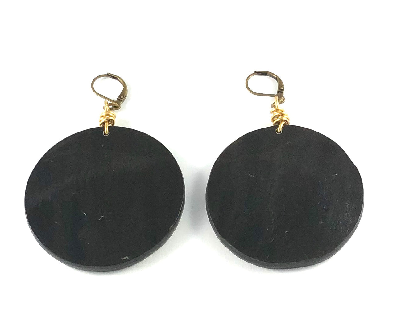 Vintage Round Horn Earrings