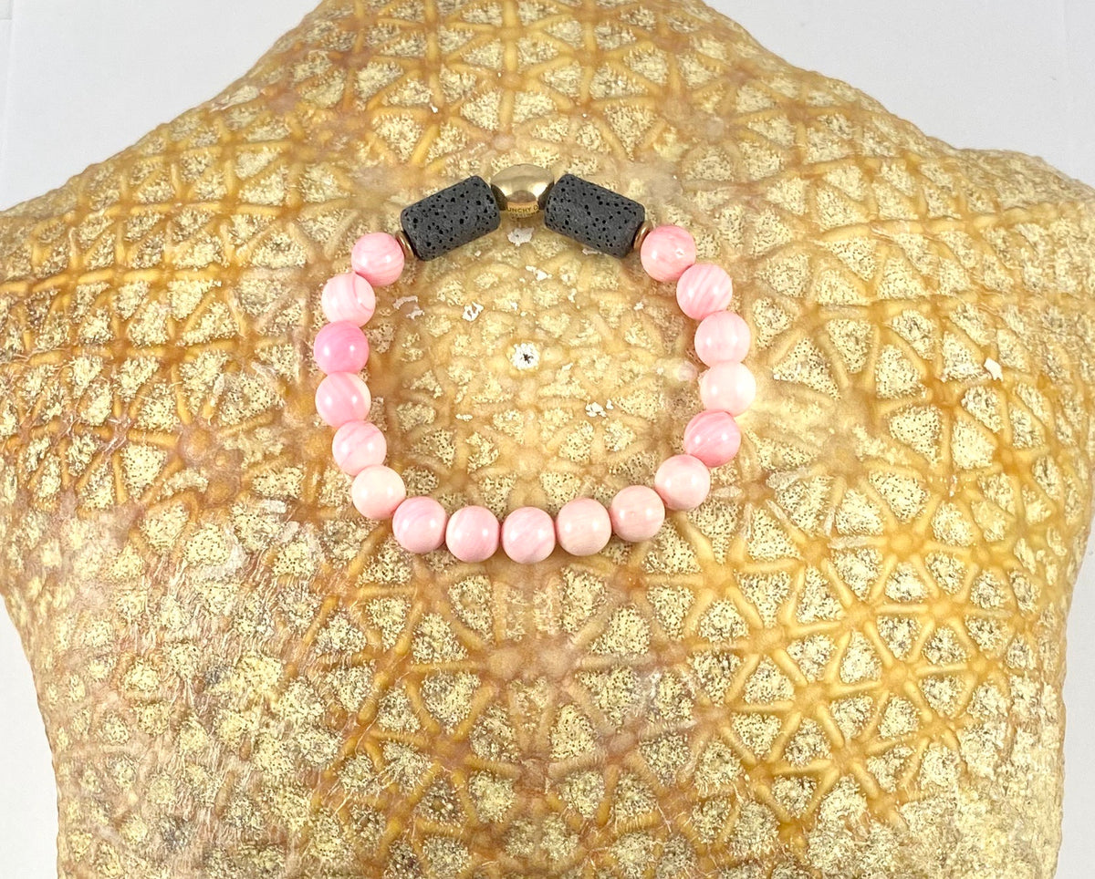 Queen Conch Shell Diffuser Stretch Bracelet - 8mm