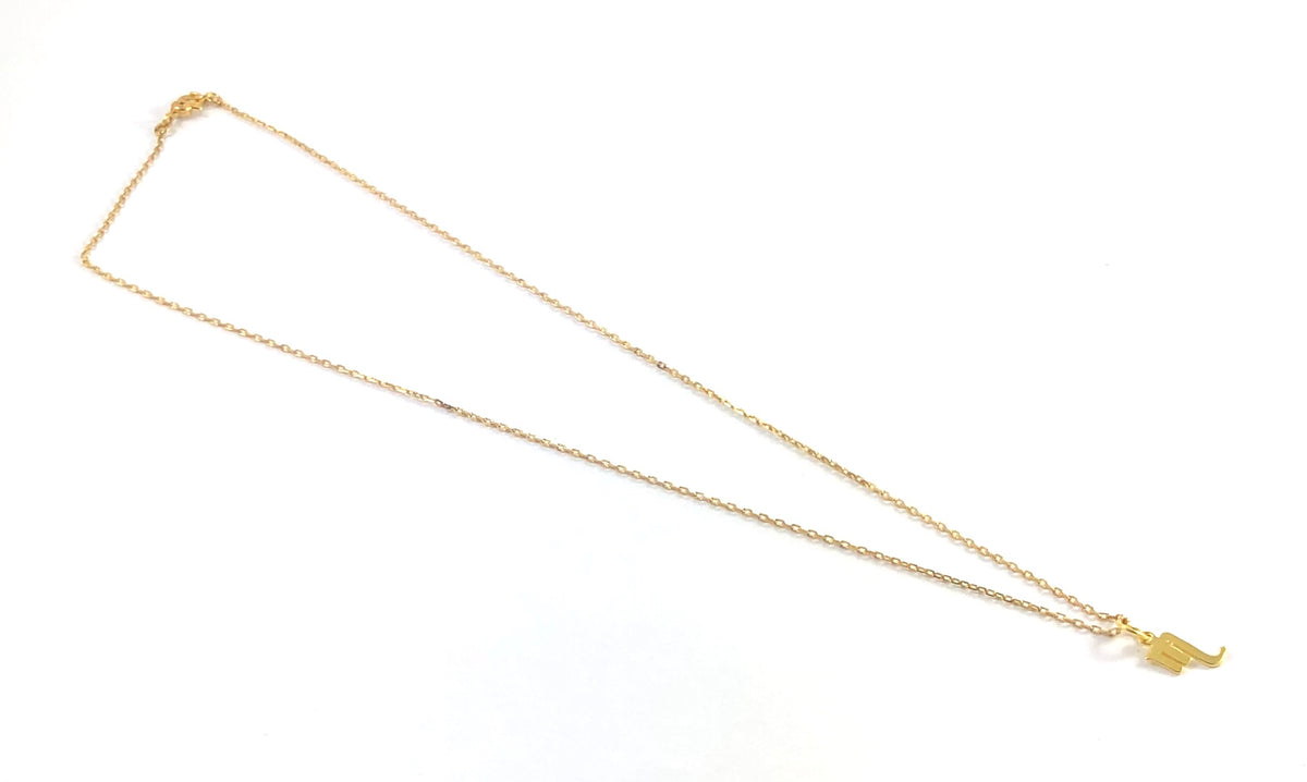 Vintage Gold Plate Necklace - Zodiac Symbols
