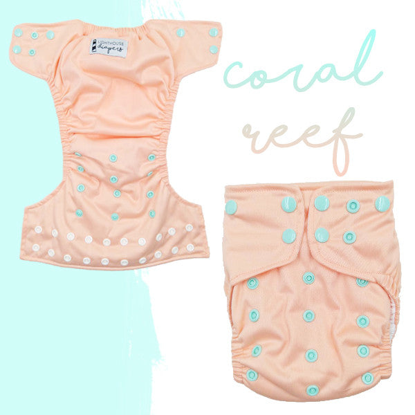 Lighthouse Diapers - Coral Reef - RELEASES 5/5/17