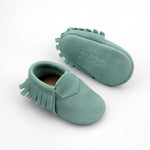 Comfort Baby Moccasins - Sea Glass