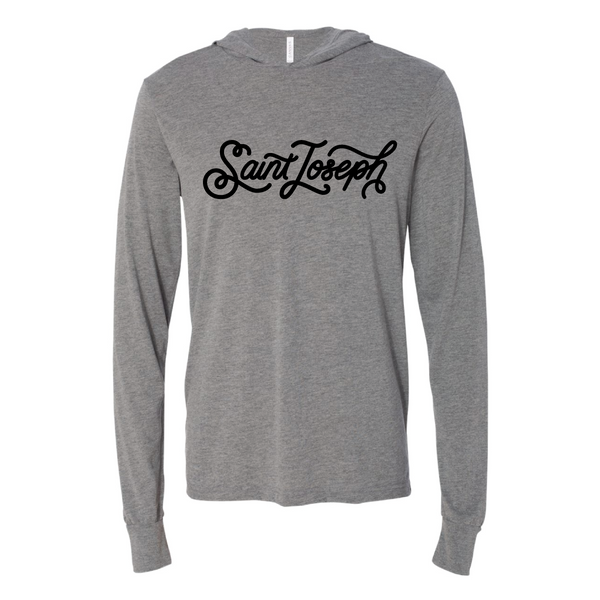 Unisex Long Sleeve Jersey Hooded Tee - New St. Joseph Design
