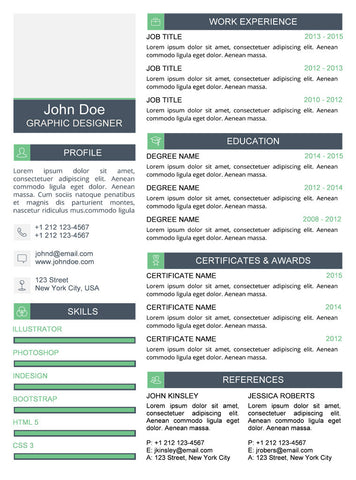 Clean Resume Template - Green - GemResume