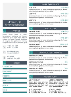Clean Resume Template - Jade - GemResume