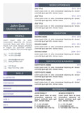 Purple Clean Resume Template and Cover Letter - 14 - GemResume