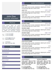 Clean Resume Template - Purple - GemResume
