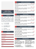 Red Clean Resume Template and Cover Letter - 11 - GemResume