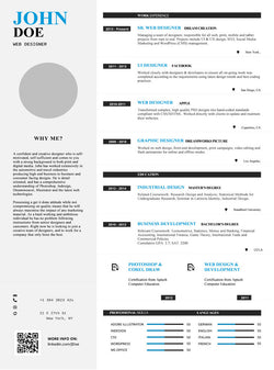 Web Designer Resume Template - GemResume