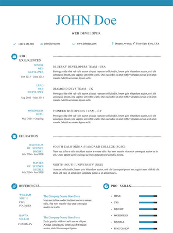 Buy Blue Resume Template | GemResume