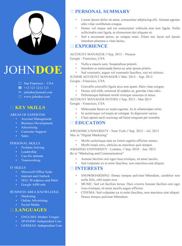 buy creative blue resume template gemresume