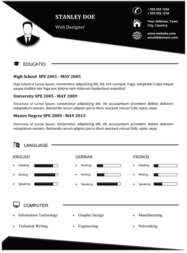 elegant resume template gemresume - Microsoft Word Resume Template