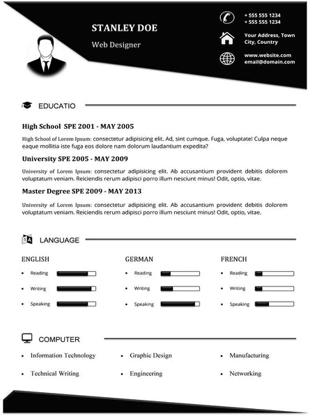 Creative Resume Template and Cover Letter 1 – Resume Outlines