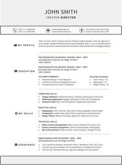 Functional Resume Template   GemResume  Creative Resume Template Word