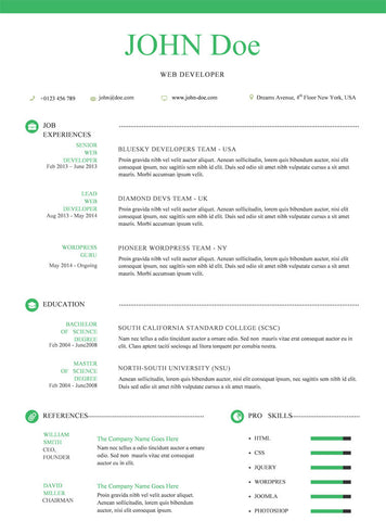 Creative Resume Template and Cover Letter - 5 - GemResume