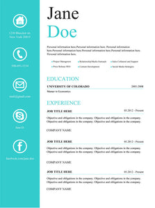 Creative Resume Template and Cover Letter - 1 - GemResume