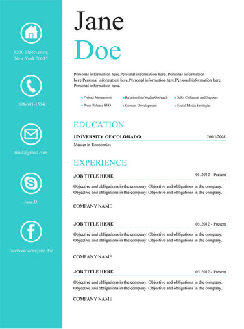Creative Resume Template And Cover Letter - 1 | Gemresume – Gemresume