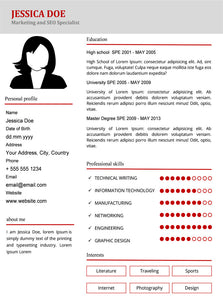 Marketing Resume Template and Cover Letter - 23 - GemResume