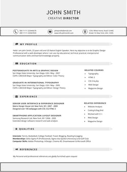 Modern Resume Template - GemResume