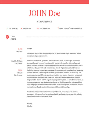 Red Cover Letter Template - GemResume