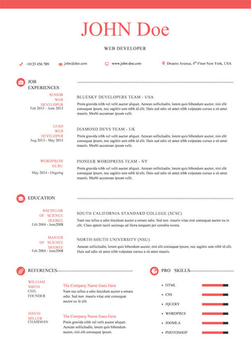 Creative Resume Template and Cover Letter - 4 - GemResume