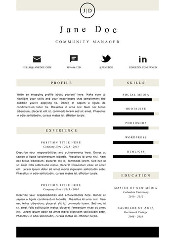 Simple Resume Template and Cover Letter - 21 - GemResume