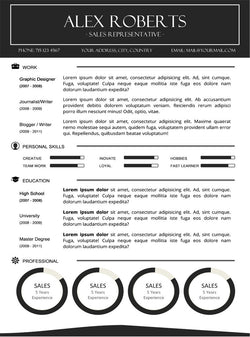 sleek resume template gemresume - Microsoft Word Resume Template