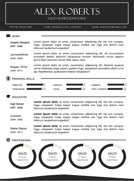 Sleek Resume Template and Cover Letter - 24 - GemResume