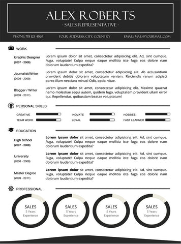 Sleek Resume Template - Buy Cv Template For Word – Gemresume