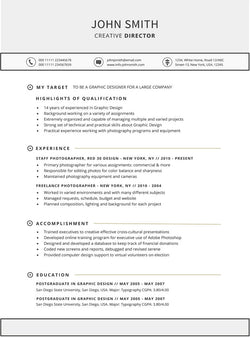 Targeted Resume Template   GemResume  Targeted Resume Template