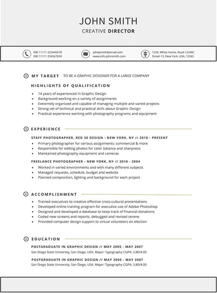 Targeted Resume Template. Resume Samples Types Of Resume Formats