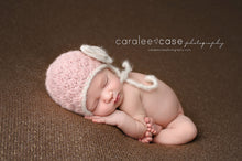 Grey Baby Earflap Hat - 0 to 3 Months