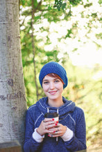 Reese Slouchy Beanie Hat in Marine