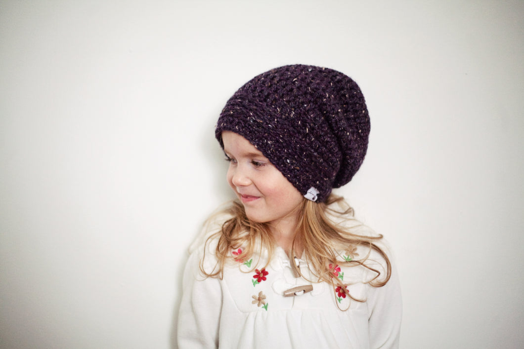 Morgan Slouchy Beanie in Brocade