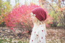 Morgan Slouchy Beanie in Red