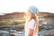 Reese Slouchy Hat in Aqua