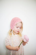 Skyla Toddler Bonnet in Pink with Lace Ties - 2T to 4T