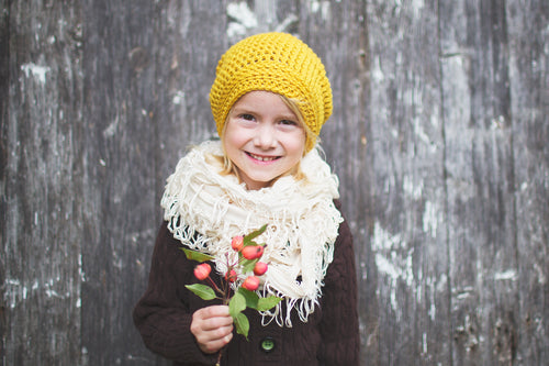 Reese Slouchy Beanie Hat in Honey