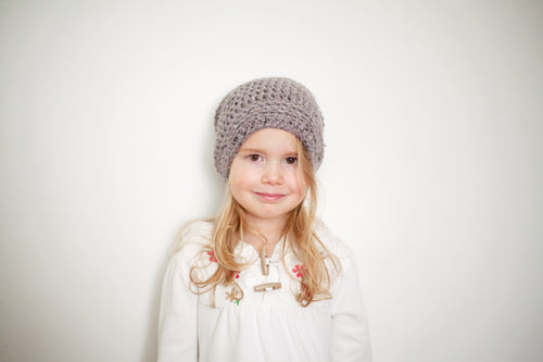 Morgan Slouchy Hat in Grey
