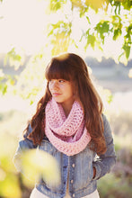 Pink Cowl Scarf for Women