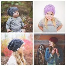 Reese Slouchy Beanie in Violet