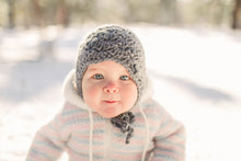 Crochet Girl's Earflap Hat in Marble
