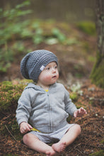 Reese Slouchy Beanie in Marble Grey