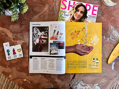 SHAPE Magazine Feature | The Pocket Palette for Next Level Living