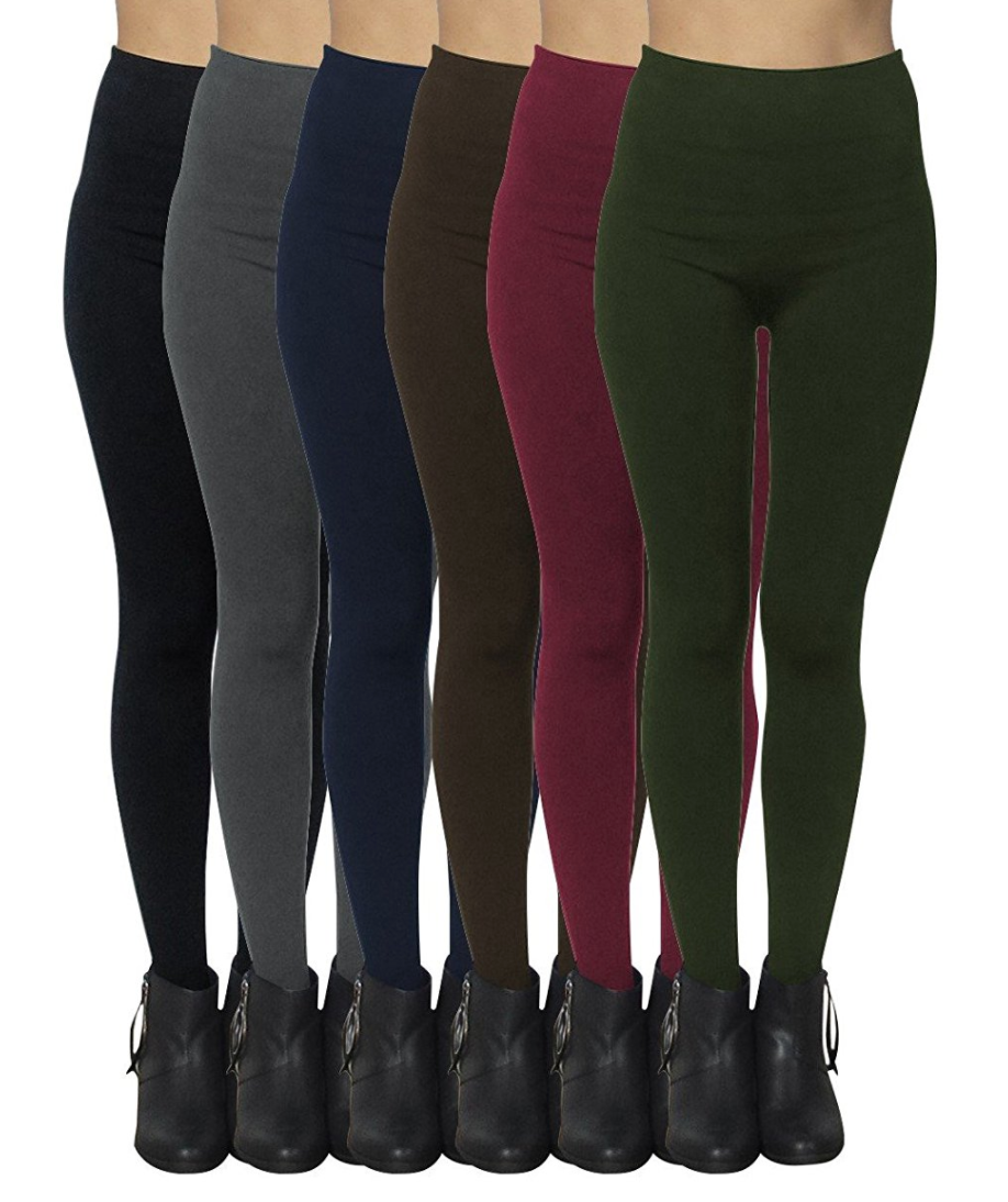 6-Pack: Women's Free to Live Seamless Fleece Lined Leggings